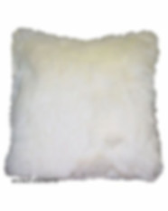 Cream Fur Pillow