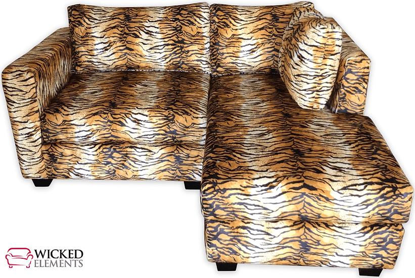 tiger print sectional sofa