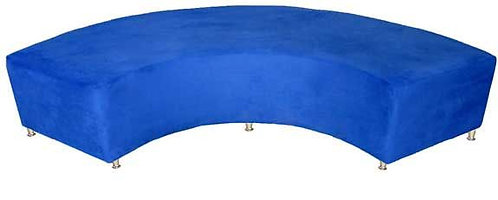 Blue Curved Bench