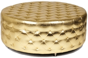 Gold Tufted Ottoman