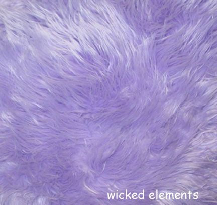 Fabric, Faux Fur, Lilac Purple, By The Yard