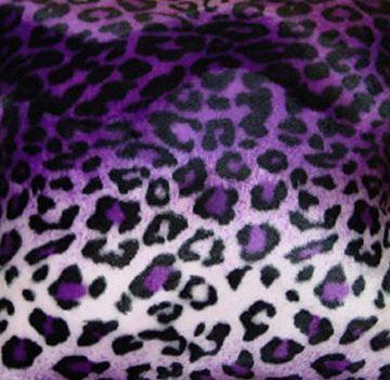 Purple Leopard Fabric
