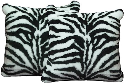 Zebra Faux Fur Pillows