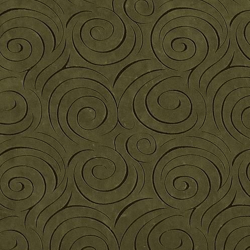 green swirl microsuede fabric