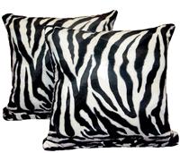 "Pillows, Animal Print, Zebra 17"" x 17"" Inches (Set of 2)"