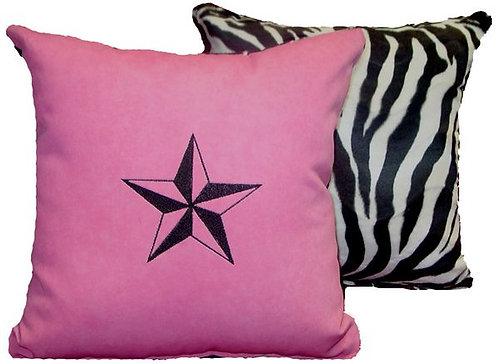Custom Pillows, Pink Star, (Set of 2 )