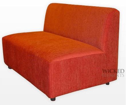 Orange Armless Sofa