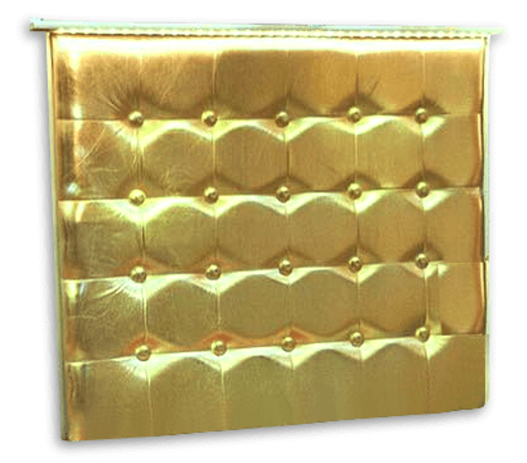 gold leatherette patio bar