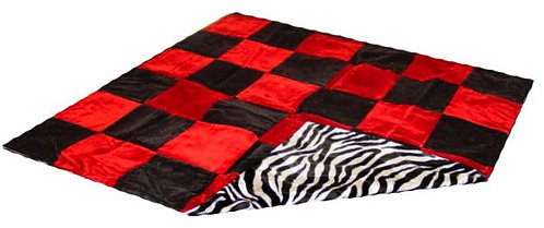 Throw Blanket, Zebra & Checkered Print
