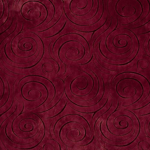 wine colored swirl fabric