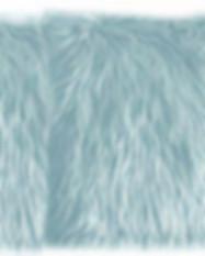 Baby Blue Faux Fur Pillow
