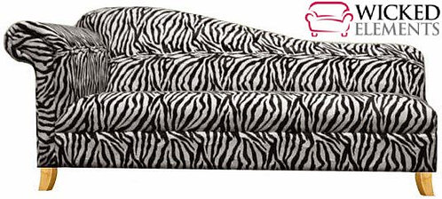 Long Zebra Chaise Lounge
