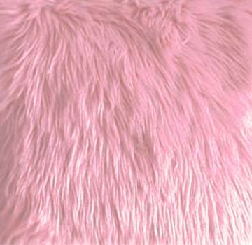 Light Pink Faux Fur Fabric