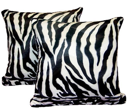 Pillows, Animal Print, Zebra, Large, (Set of 2)