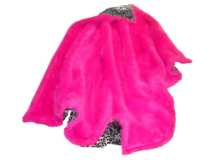 Hot Pink Faux Fur Throw