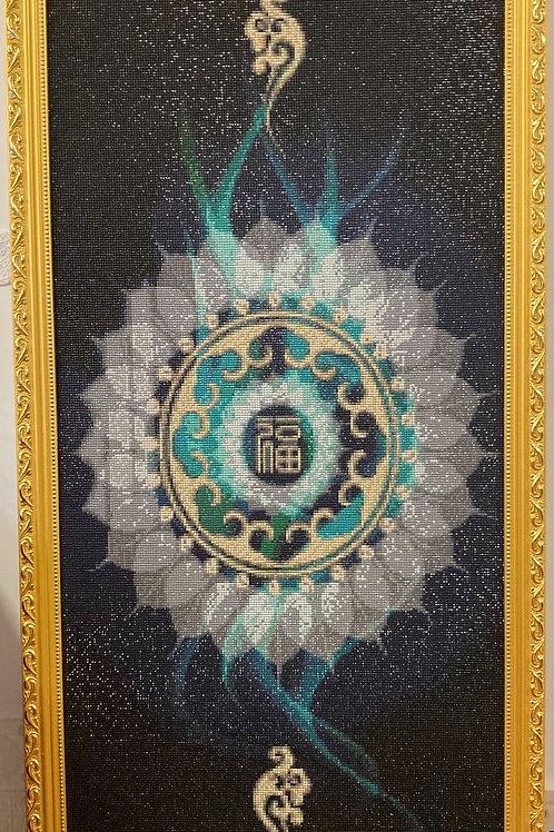 [鑽石畫] 福字 60x120cm (包送貨)