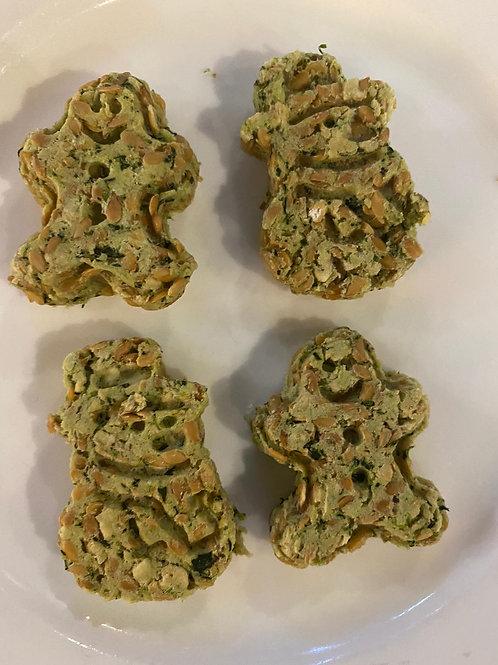 LPL018 寵物食品 聖誕曲奇:鯛魚小棠菜亞麻籽燕麥曲奇(1包8小塊)