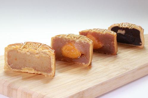 MC005 (多款口味)銀杏館精選雜錦月餅 - 1盒(4個) (80克/個) (四款月餅,每款一個)