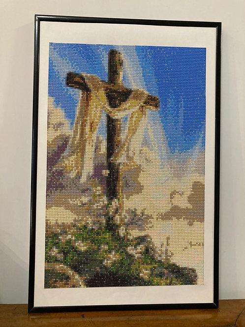 [鑽石畫] 十字架 35x55cm (包送貨)