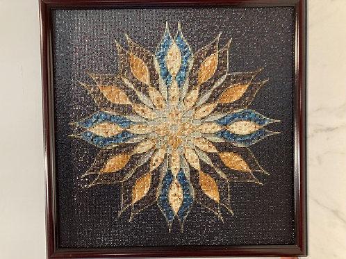 [鑽石畫] 彩色葡提葉  57x57cm (包送貨)