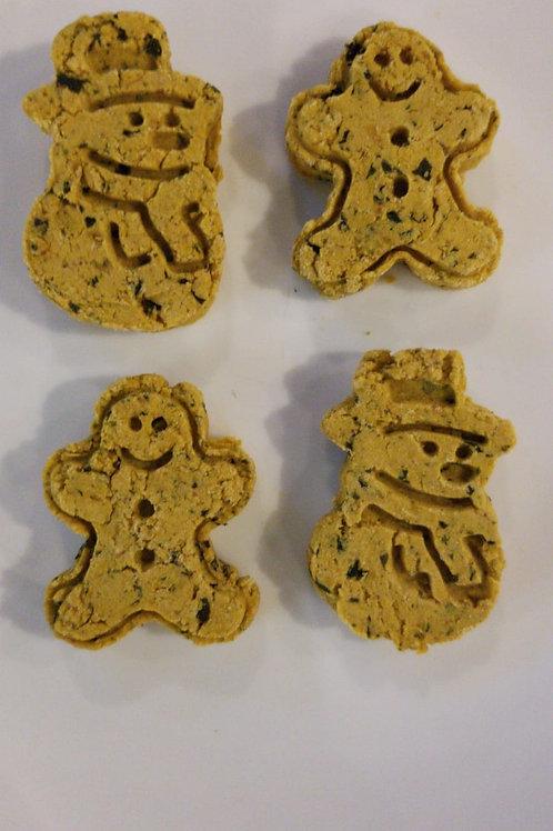 LPL016 寵物食品 聖誕曲奇:雞肉南瓜螺旋藻燕麥曲奇(1包8小塊)