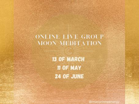 2021 Spring online Moon Meditations