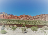 Red rock mountains