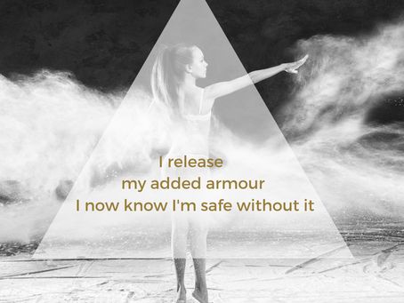 I release my added armour I now know I'm safe without it