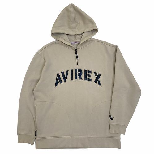 Vintage 90s Avirex 1/4 Zip Spellout Sweatshirt - XL
