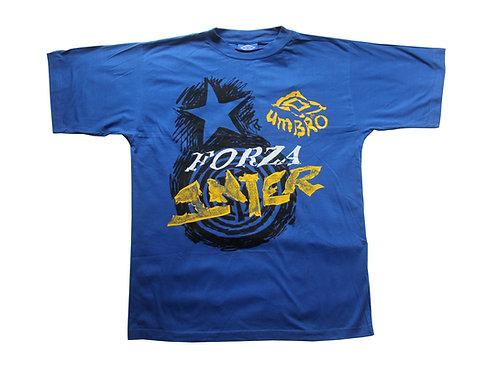 Inter Milan Umbro T-Shirt 1990s - M