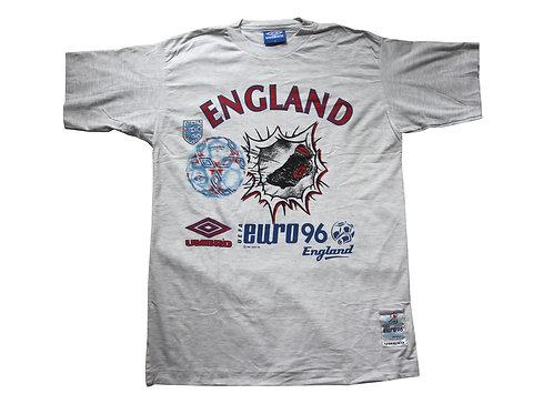 England 'Euro 96' Umbro T-Shirt - M & L