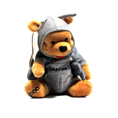 "Disney 'Millenium Bug Pooh' 8"" Bean Bag Soft Toy"