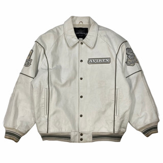 Avirex 'Hi Rollers' Leather Jacket - Fits XXL