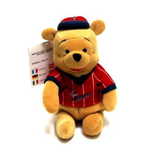 "Disney 'Baseball Pooh' 8"" Bean Bag Soft Toy"