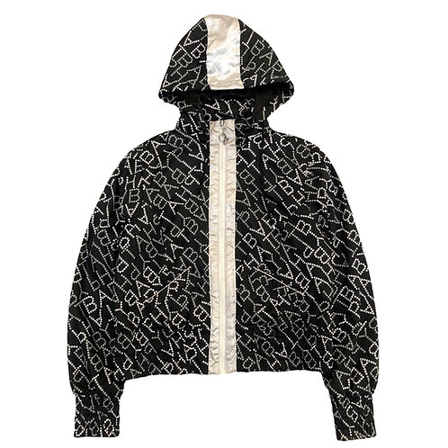 y2k Baby Phat 'Text Print' Full Zip Cropped Jacket - M
