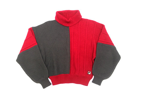 Fila Cropped Knitted Jumper - S