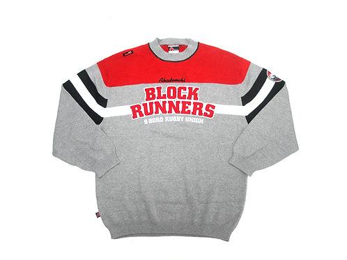 Akademiks 'Block Runners' knitted sweatshirt - XL