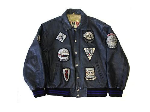 Avirex 'Black Aces' Leather Jacket - M