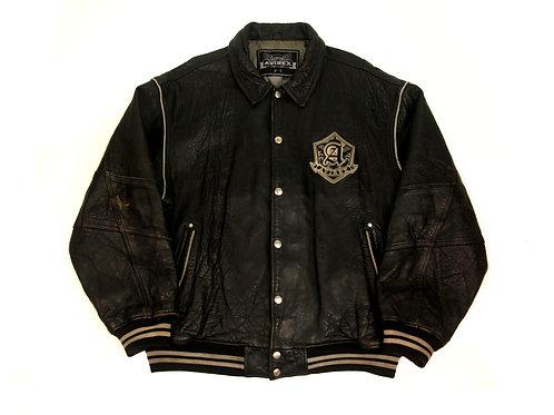 Avirex 'Limited Edition' Black Leather Jacket - XXXL