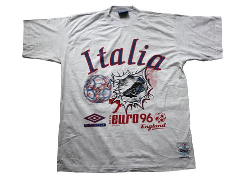Italy 'Euro 96' Umbro T-Shirt - L & XL