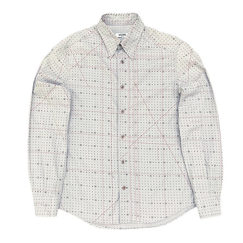 Vintage Moschino 'Crossword Print' L/S Shirt - S