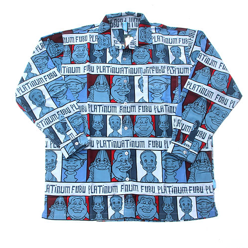 Platinum Fubu 'Fat Albert' All Over Print L/S Shirt - XL