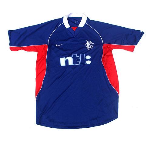 Rangers Nike Home Shirt 2001/02 - L