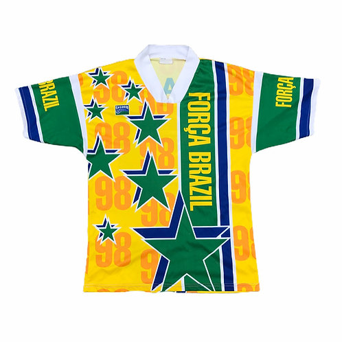 Bootleg Brazil early 2000s Fan Made Football Top Size S/M