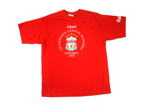 Liverpool Reebok Champions League Winners T-Shirt 2005 - L