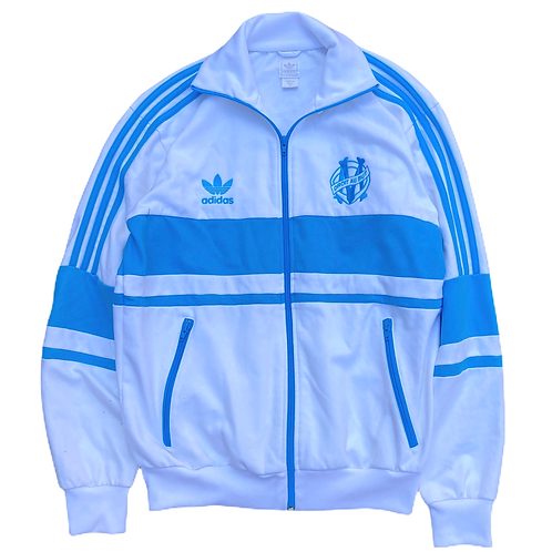 Early 2000s Olympique Marseille Adidas Original Tracksuit Top - M