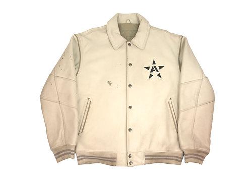 Avirex White Leather Jacket - XL