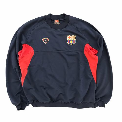 Vintage Deadstock FC Barcelona 2000/01 Training Sweatshirt - S