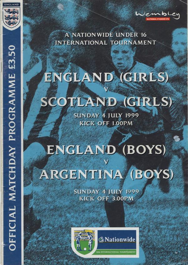 England (Boys) v Argentina (Boys) 1999