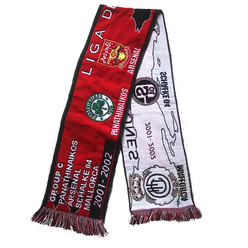 Arsenal 'Champions League Group 2001/02' Scarf - OSFA